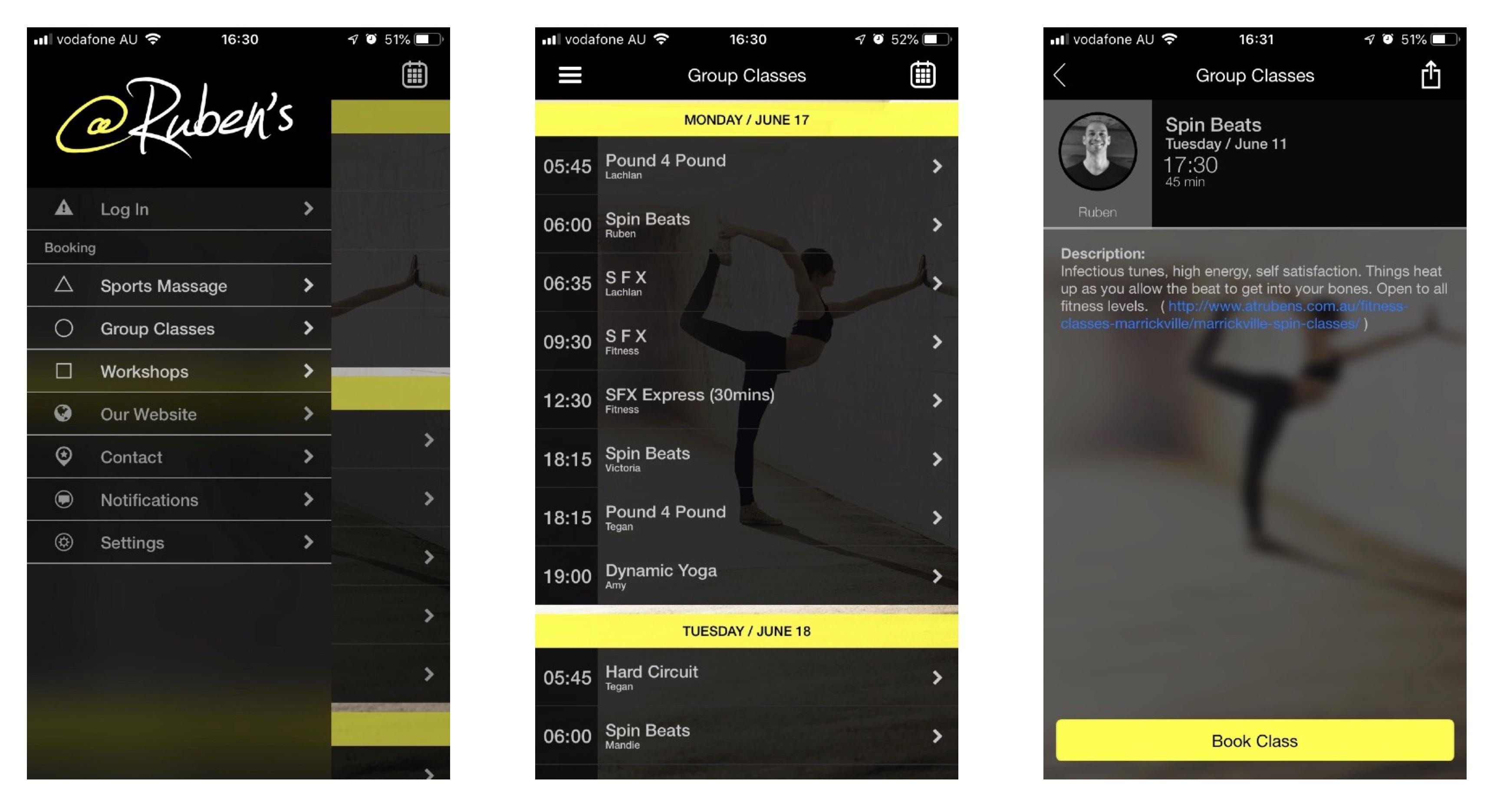 app for at rubens fitness